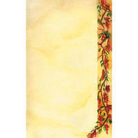 8 1/2 inch x 11 inch Menu Paper Right Insert - Mediterranean Themed Villa Design - 100/Pack