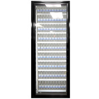 Styleline CL3072-LT Classic Plus 30 inch x 72 inch Walk-In Freezer Merchandiser Door with Shelving - Satin Black, Left Hinge