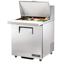 True TSSU-27-12M-C-ADA-HC 27 inch ADA Height Mega Top Sandwich / Salad Prep Refrigerator with Right-Hinged Door