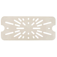 Cambro 60HPD772 1/6 Size Sandstone High Heat Drain Tray