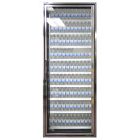 Styleline CL3080-LT Classic Plus 30 inch x 80 inch Walk-In Freezer Merchandiser Door with Shelving - Anodized Bright Silver, Right Hinge