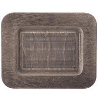 Lodge UMSRC 7 1/2 inch x 6 inch Walnut Stain Rectangular Wood Underliner