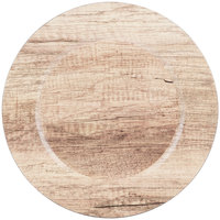 The Jay Companies 1270279 13 inch Round Poplar Gray Melamine Charger Plate