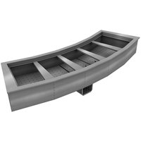 Delfield N8194-BR Five Pan Curved Drop-In Refrigerated Food Well