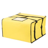 Choice 20 inch x 20 inch x 12 inch Yellow Soft-Sided Nylon Insulated Pizza Delivery Bag - Holds Up To (6) 16 inch, (5) 18 inch, or (4) 20 inch Pizza Boxes