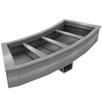Delfield N8176-BR Four Pan Curved Drop-In Refrigerated Food Well