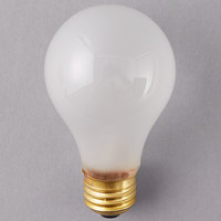 Satco S3970 75 Watt Frosted Finish Incandescent Rough Service Light Bulb - 2/Pack