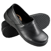 Genuine Grip 430 Women's Size 9.5 Medium Width Black Non Slip Slip-On Leather Shoe
