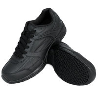 Genuine Grip 1110 Women's Size 7.5 Wide Width Black Leather Athletic Non Slip Shoe