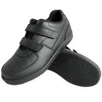 Genuine Grip 230 Women's Size 8.5 Wide Width Black Leather Hook and Loop Closure Non Slip Shoe