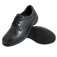 Genuine Grip 420 Women's Size 10 Wide Width Black Full Grain Leather Tie Non Slip Shoe