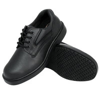 Genuine Grip 710 Women's Size 11 Medium Width Black Oxford Steel Toe Non Slip Shoe