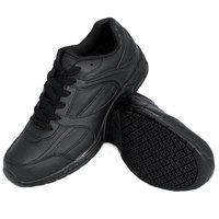 Genuine Grip 1011 Women's Size 11 Wide Width Black Leather Steel Toe Jogger Non Slip Shoe