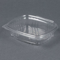 Genpak AD08 5 3/8 inch x 4 1/2 inch x 1 1/2 inch 8 oz. Clear Hinged Deli Container - 100 / Pack