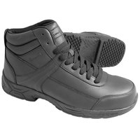 Genuine Grip 1021 Men's Size 6.5 Wide Width Black Steel Toe Non Slip Leather Boot