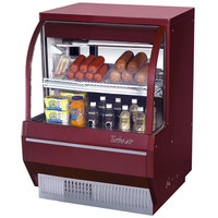 Turbo Air TCDD-36-2-L Red 36 inch Curved Glass Refrigerated Deli Case - 6.8 Cu. Ft.