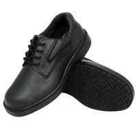 Genuine Grip 7110 Men's Size 14 Wide Width Black Oxford Steel Toe Non Slip Leather Shoe