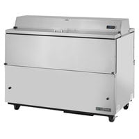 True TMC-58-S-DS-SS-HC 58 inch Two Sided Milk Cooler with Stainless Steel Interior and Exterior