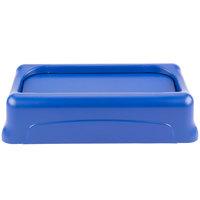 Rubbermaid FG267360BLUE Slim Jim Blue Swing Wall Hugger Trash Can Lid