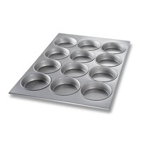 Chicago Metallic 45355 12 Cup Glazed Oversized Mini-Cake Muffin Pan - 18 inch x 25 7/8 inch