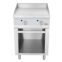 Cooking Performance Group 24-CPG-GRDT Natural Gas 24 inch 2 Burner Griddle with Thermostatic Controls and Storage Base - 60,000 BTU