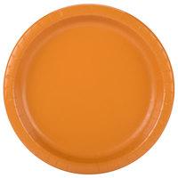 Creative Converting 323393 10 inch Pumpkin Spice Orange Round Paper Plate - 240/Case