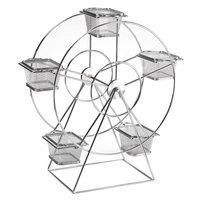 GET 4-92065 Chrome 5 Basket Ferris Wheel Rack - 14 1/2 inch x 7 inch x 18 1/2 inch