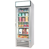 Beverage Air MMR23-1-W-LED White Marketmax Refrigerated Glass Door Merchandiser with LED Lighting- 23 Cu. Ft.
