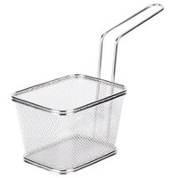 GET 4-81868 5 inch x 4 inch x 3 1/4 inch Stainless Steel Single Serving Fry Basket