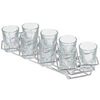 GET 4-82018 Stainless Steel 8 Square Compartment Dessert Caddy - 11 3/4 inch x 3 1/4 inch x 1 1/4 inch