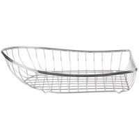 GET 4-80300 Stainless Steel Boat Basket - 13 1/4 inch x 7 3/4 inch x 3 3/4 inch