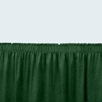 National Public Seating SS8-36 Green Shirred Stage Skirt for 8 inch Stage - 7 inch x 36 inch