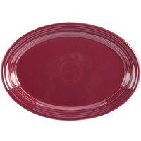 Homer Laughlin 456341 Fiesta Claret 9 5/8 inch x 6 7/8 inch Small Oval Platter   - 12/Case