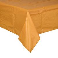 Creative Converting 323400 54 inch x 108 inch Pumpkin Spice Orange Disposable Plastic Table Cover - 12/Case