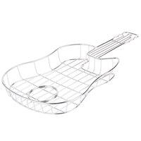 GET 4-81929 16 inch x 8 1/2 inch x 1 1/2 inch Guitar Basket with Condiment Holder