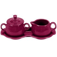 Homer Laughlin 821341 Fiesta Claret Sugar and Cream Tray Set - 4/Case