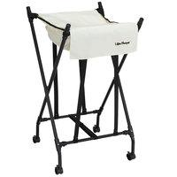 White Mobile Spring Loaded Laundry Lifter Hamper®