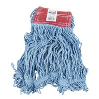 Rubbermaid FGD25306BL00 Blue Large Super Stitch Blend Mop Head with 5 inch Headband