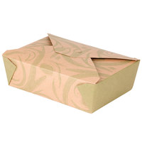 Bio-Plus-Earth 03BPSONOMM Sonoma 8 inch x 6 inch x 2 1/2 inch Microwavable Paper #3 Take Out Container 200 / Case