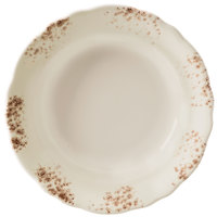 Homer Laughlin 112641301 Cottage Brun 11 1/2 inch Scalloped Edge Pasta Plate - 12/Case