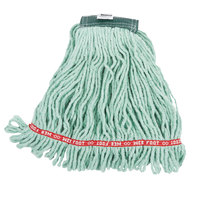 Rubbermaid FGA25206GR00 Green Medium Web Foot Shrinkless Blend Mop Head with 5 inch Headband