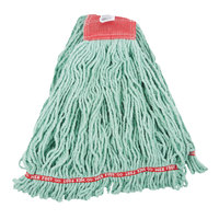 Rubbermaid FGA25306GR00 Green Large Web Foot Shrinkless Blend Mop Head with 5 inch Headband