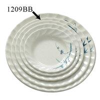 Blue Bamboo Melamine Curved Rim Plate – 9 1/4 inch 12 / Pack