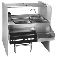 Eagle Group CS42-32L Spec-Bar 42 inch Stainless Steel Cocktail Station with Ice Bin on Left