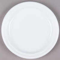Dart Solo 7PWF 7 inch White Famous Service Impact Plastic Plate 1000/Case
