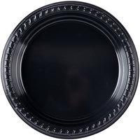 Dart Solo P75E-0099 7 1/4 inch Black Premium Party Plastic Plate - 1000/Case