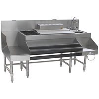 Eagle Group CCS-66-2 Spec-Bar 66 inch Stainless Steel Combination Cocktail Station with 12 inch Recessed Workboard