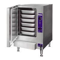 Cleveland 22CGT6.1 SteamChef 6 SST Liquid Propane 6 Pan Countertop Steamer - 32,000 BTU