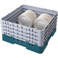 Cambro CRP4856414 Teal Full Size PlateSafe Camrack 5-6 inch