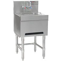 Eagle Group HSD18-19 Spec-Bar 20 Gauge Stainless Steel Hand Sink with Soap Dispenser, Paper Towel Dispenser, and Wall Mount Faucet - 18 inch x 19 inch